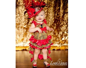 Pageant OOC hobby interest wear Baby girl diva animal print pageant casual wear natural wear talent wear custom 12m up 10 yr