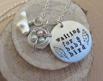 Infertility Necklace, Mother's Day Gift, Infertility Jewelry, Adoption Jewelry, Infertility, Infertility Awareness, Birds Nest Necklace