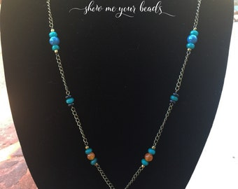 "22"" Antique Brass Chain Necklace"