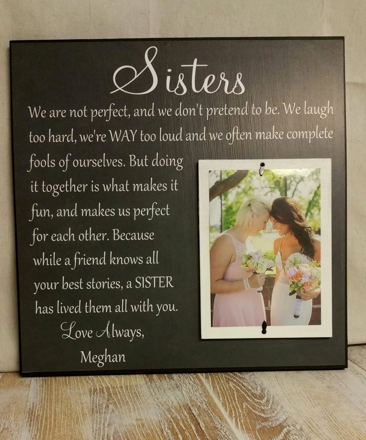 Wedding Day Gift For Sister : Wedding Gift Sister Wedding Gift Wedding Thank You Gift for