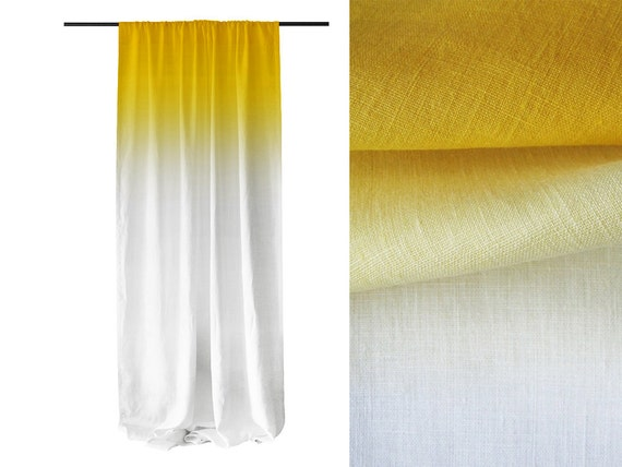 Blue Ombre Window Curtains: Yellow Ombre Window Curtains Unlined Or Blackout By