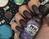 Kitty's Comet Catventures in Space Purple to Gold duochrome vegan nail polish