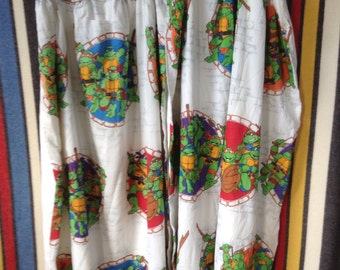 1990 TMNT Teenage Mutant Ninja Turtles curtains