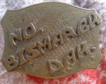 Vintage Bismarck North Dakota belt buckle