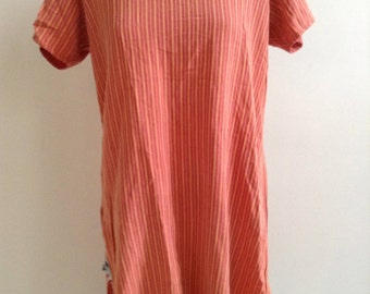 Vintage madras shirt dress India ladies large