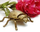 Brass Ladybug Trinket Ashtray