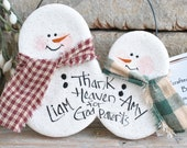 Godparents Gift Handmade Salt Dough Ornament