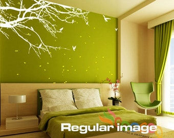 "Tree Wall Decal Large Vinyl Wall Decal Tree Nursery Wall Decal Nursery Wall Sticker 60""W 2 Colors"