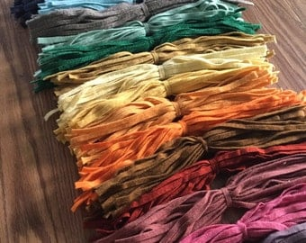 A Great Big Mix - 500 Hand Cut #8 Wool Strips for Primitive Rug Hooking