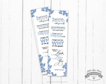 Forget Me Not, President Uchtdorfs Talk, LDS,  Bookmark