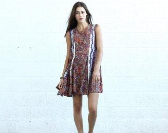 Summer Sale Flare Midi dress, Light Paisley
