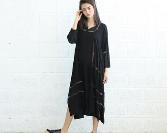 Big Summer Sale Breeze caftan Dress, Black