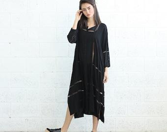 Breeze caftan Dress, Black