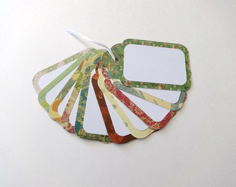 Gift Tags, Gift Tag Set, Assorted Gift Tags, Paper Tags, Birthday Gift Tags, Blank Tags, Set of 12 Tags,  12 Large Gift Tags, Blank Tags