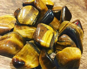 Tigers Eye Tumbled CLEARANCE - 2 for price of 1
