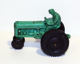 Vintage Auburn Toy Tractor, Rubber Tractor Toy, Allstate Tire Toy, Vintage Farm Toy