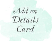 Details Card (Set of 25) | Add-on matching design