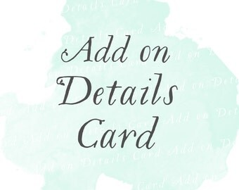Details Card (Set of 25)   Add-on matching design