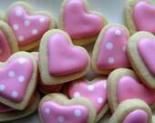 6 dozen Valentine's Day Mini Heart Cookies