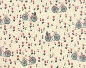 Mon Ami Bicyclette in Creme, Bicycle in Cream, BasicGrey, 100% Cotton, Moda Fabrics, 30413 11