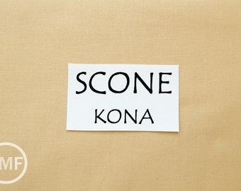 One Yard Scone Kona Cotton Solid Fabric from Robert Kaufman, K001-499