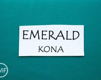 One Yard Emerald Kona Cotton Solid Fabric from Robert Kaufman, K001-1135