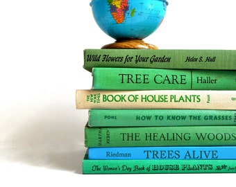 Vintage Collection of Gardening and Nature Books - House Plants / Landspcaping