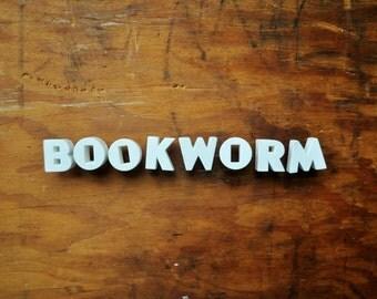 BOOKWORM - Vintage Ceramic Push Pins
