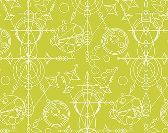 Fabric by the Yard- Sunprints 2015- Mercury Green- by Alison Glass for Andover