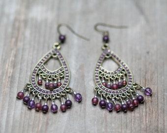 Vintage Earrings, Chandelier Earrings, Elegant Earrings, Dangle Earrings, Gift For Wife, Gift For Mother, Vintage Jewelry, Large Earrings