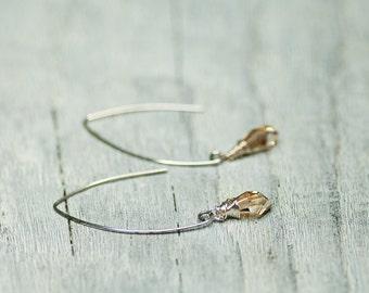Drop Earrings, Dangle Earrings, Crystal Earrings, Small Drop Earrings, Swarovski Jewelry, Swarovski Jewelry, Briolette Earrings, Valentines