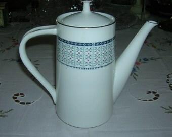Vintage Noritake Nippon Toki Kaisha Porcelain China Coffee Pot Circa 1970's
