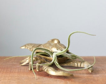 Vintage Brass Lobster/Crawfish with Hidden Container for Small Storage