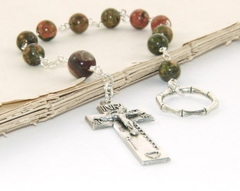 An Paidrin Beag - the Irish Penal Rosary with Natural Gemstone Beads