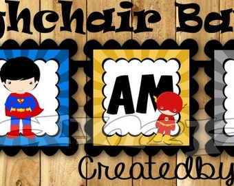 I am one Birthday Banner Superhero High chair banner Super hero banner 1st Birthday garland Comics decoration Party banner Super boy sign