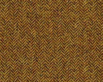 100% Wool Fabric - Herringbone - Carefully Sourced Fiber Dyed Wool for Drapery and Light Upholstery - Color: Venietian Brown - per yard