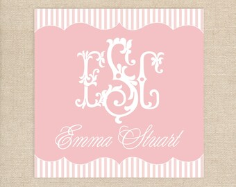 "25 Monogram 3""x3"" Enclosure Cards"