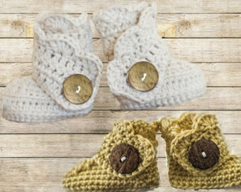 Baby Uggs Crocheted Boots Booties