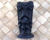 Vintage Lava TIKI God.  Made in Hawaii, Tiki Bar.  CocoJoes.  Mid century modern, kitsch, Eames era. 1960's.