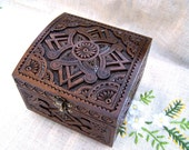Wedding jewelry box Large wooden box Ring box Wood box Jewellery box Wood carving Wedding gifts wooden box Jewelry boxes schatulle B58