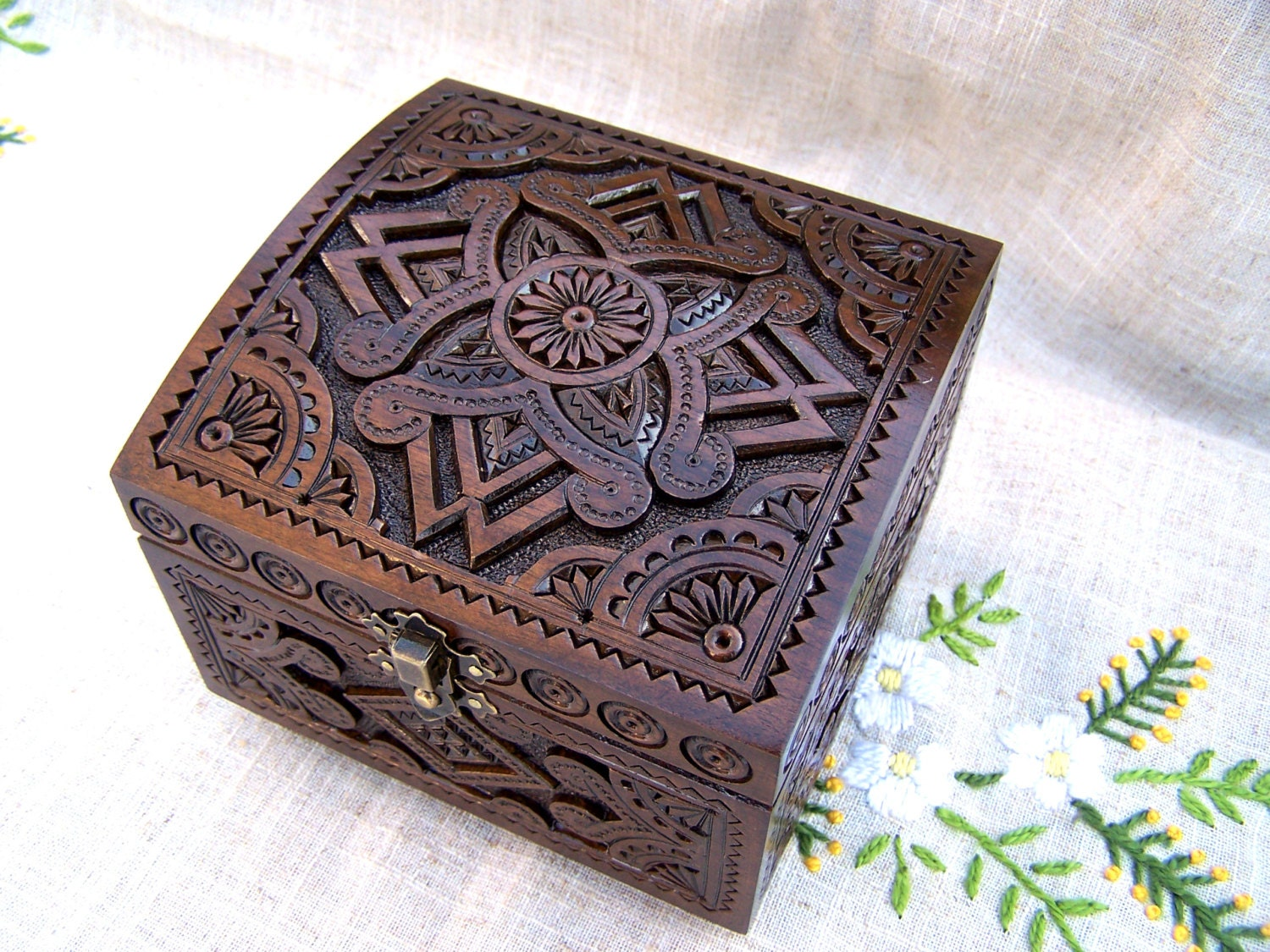 Wedding jewelry box large wooden box ring box wood by for Wooden ring box
