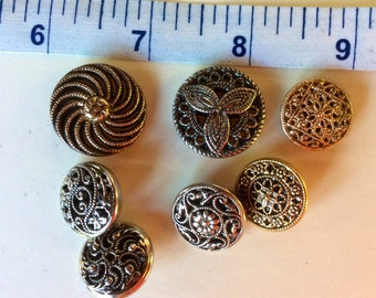 Twinkle Buttons - set of 7