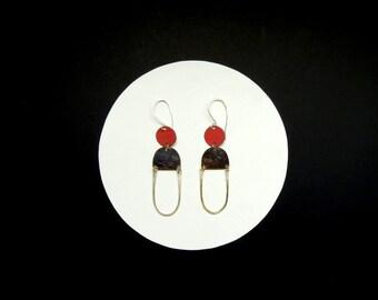 Oblong Circle Loop Earrings (Large)
