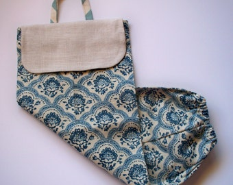 Plastic Bag Dispenser Blue Fabric Grocery Bag Dispenser Bag Dispenser