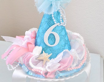 Girl's Mermaid Birthday Hat