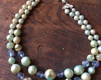 Vintage bead necklace 1950s