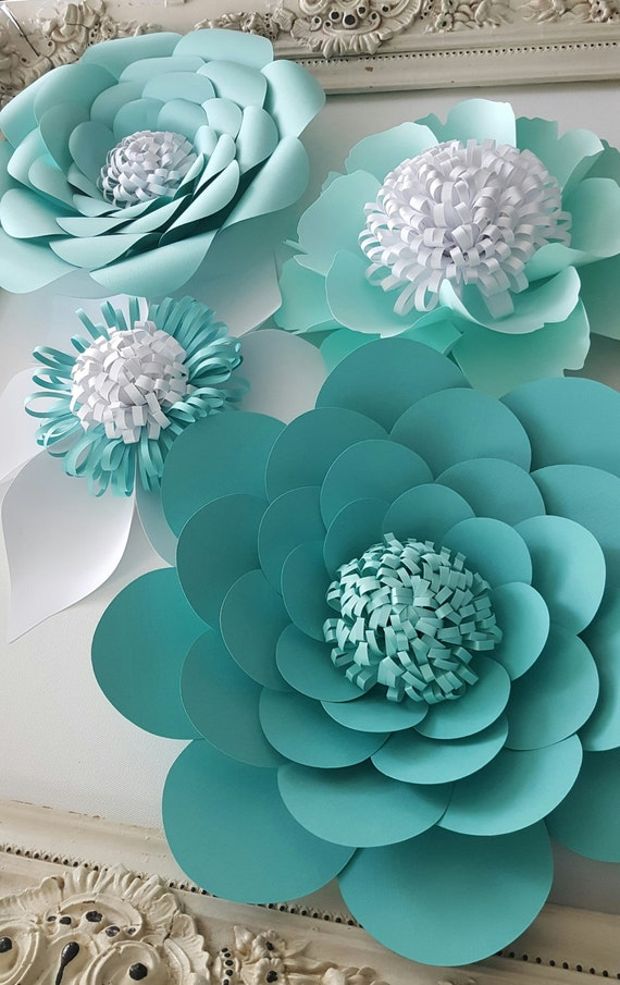 Large Paper Extra Large Paper Flower Photo Prop Backdrop Set