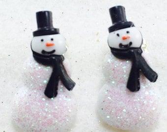 Snowman Earrings, Snowman Studs Earrings, Snowmen Earrings, Earrings, Christmas Earrings,Snowmen Earrings, Little Snowman Earrings, Holiday