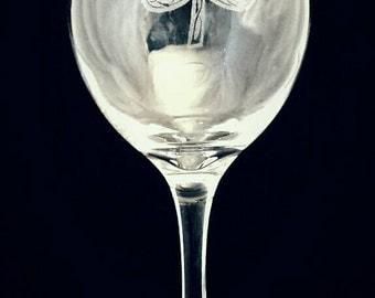 Irish shamrock wine glass