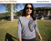 Clearance Women's Heart XLarge Tri-Blend Long Sleeve Pullover - American Made